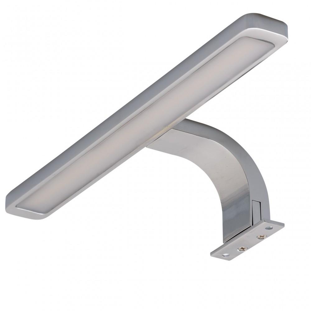 Спот Mw lightСпоты<br>Тип: спот, Стиль светильника: модерн, Материал светильника: металл, Количество ламп: 1, Тип лампы: светодиодная, Мощность: 10, Патрон: LED, Цвет арматуры: хром, Ширина: 280, Длина (мм): 100, Высота: 50, Коллекция: Аква<br>