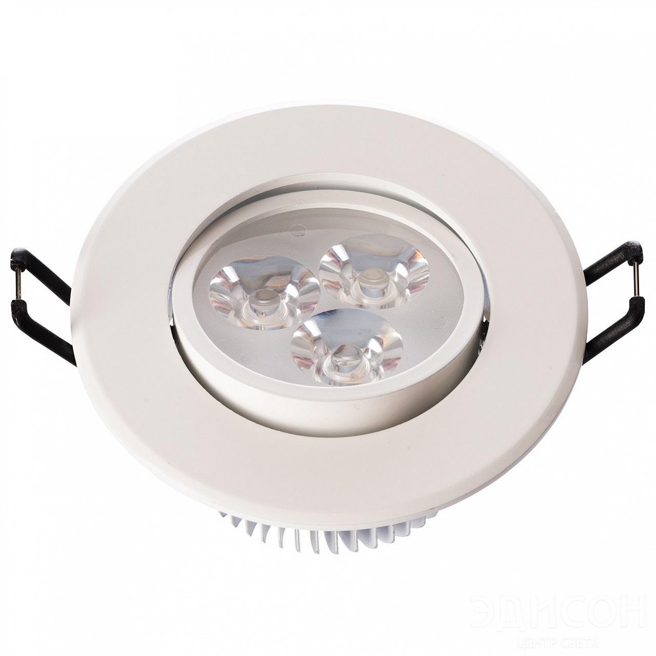 Светильник встраиваемый Mw lightСветильники встраиваемые<br>Стиль светильника: модерн,<br>Диаметр: 90,<br>Форма светильника: круг,<br>Материал светильника: металл,<br>Количество ламп: 3,<br>Тип лампы: светодиодная,<br>Мощность: 1,<br>Патрон: LED,<br>Коллекция: Круз<br>