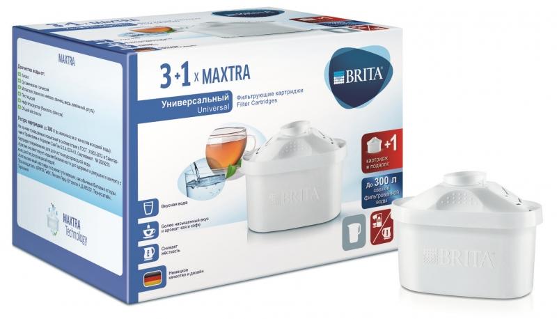 Сменный картридж Brita 1022103 maxtra, 3 шт + 1 шт в подарок