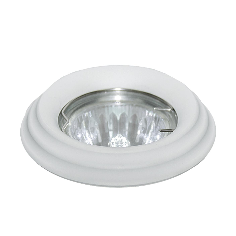 Светильник встраиваемый EscadaСветильники встраиваемые<br>Стиль светильника: хай-тек,<br>Диаметр: 85,<br>Форма светильника: круг,<br>Материал светильника: алюминий,<br>Количество ламп: 1,<br>Тип лампы: галогенная,<br>Мощность: 50,<br>Патрон: G5.3,<br>Цвет арматуры: белый,<br>Коллекция: LECCO<br>