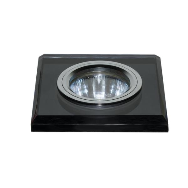Светильник встраиваемый EscadaСветильники встраиваемые<br>Стиль светильника: хай-тек, Диаметр: 90, Форма светильника: квадрат, Материал светильника: сталь, Количество ламп: 1, Тип лампы: галогенная, Мощность: 50, Патрон: G5.3, Цвет арматуры: хром, Коллекция: ASTI<br>