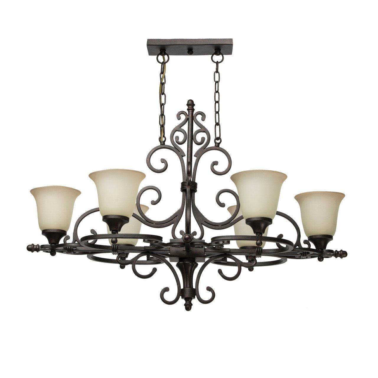 Люстра ChiaroЛюстры<br>Назначение светильника: для гостиной,<br>Стиль светильника: классика,<br>Тип: подвесная,<br>Материал плафона: стекло,<br>Материал арматуры: металл,<br>Длина (мм): 920,<br>Ширина: 550,<br>Высота: 2050,<br>Количество ламп: 6,<br>Тип лампы: накаливания,<br>Мощность: 60,<br>Патрон: Е27,<br>Цвет арматуры: черный,<br>Коллекция: Версаче<br>