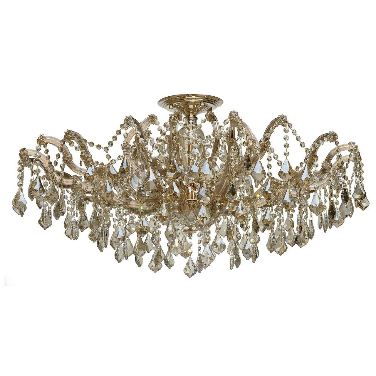 Люстра ChiaroЛюстры<br>Назначение светильника: для гостиной,<br>Стиль светильника: классика,<br>Тип: потолочная,<br>Материал плафона: стекло,<br>Материал арматуры: стекло,<br>Длина (мм): 360,<br>Ширина: 460,<br>Высота: 500,<br>Количество ламп: 10,<br>Тип лампы: накаливания,<br>Мощность: 60,<br>Патрон: Е14,<br>Цвет арматуры: золото,<br>Коллекция: Луиза<br>
