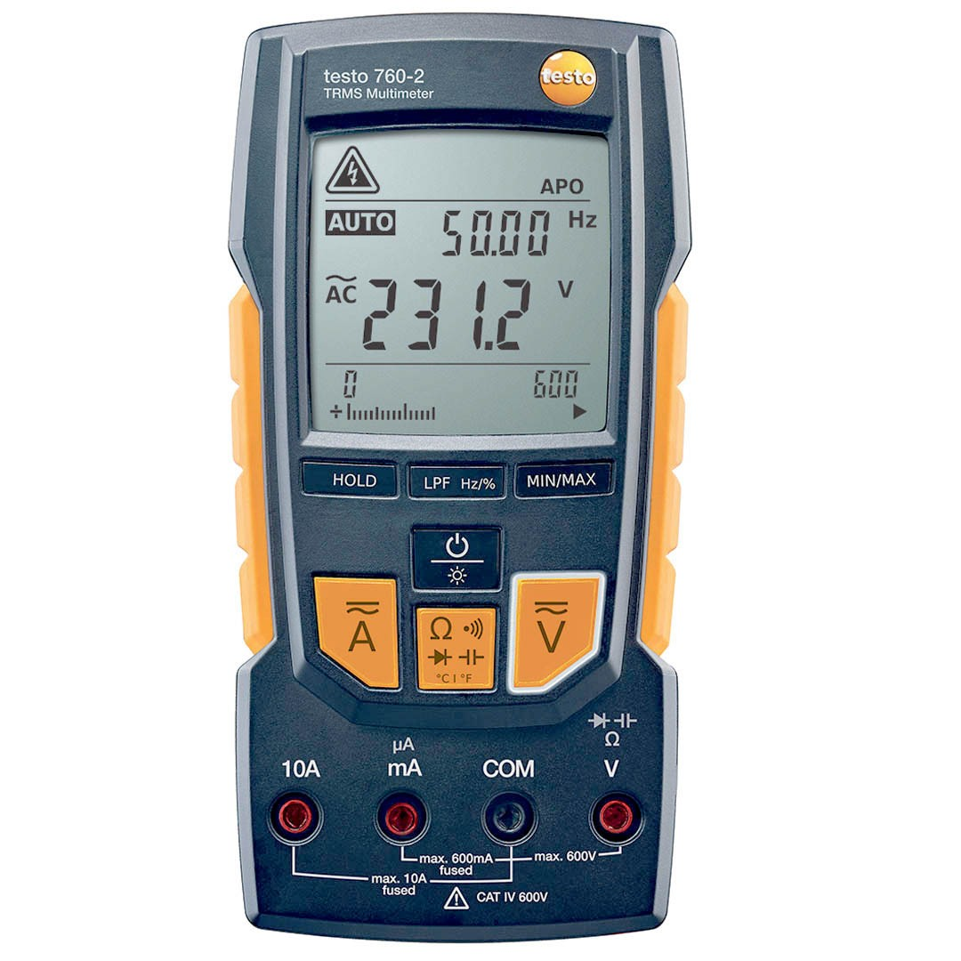 Мультиметр TestoМультиметры (тестеры)<br>Тип: мультиметр,<br>Класс: проф.,<br>Дисплей: цифровой,<br>Измерение напряжения (постоянного/переменного): есть,<br>Измерение сопротивления: есть,<br>Измерение постоянного тока: есть,<br>Измерение переменного тока: есть<br>