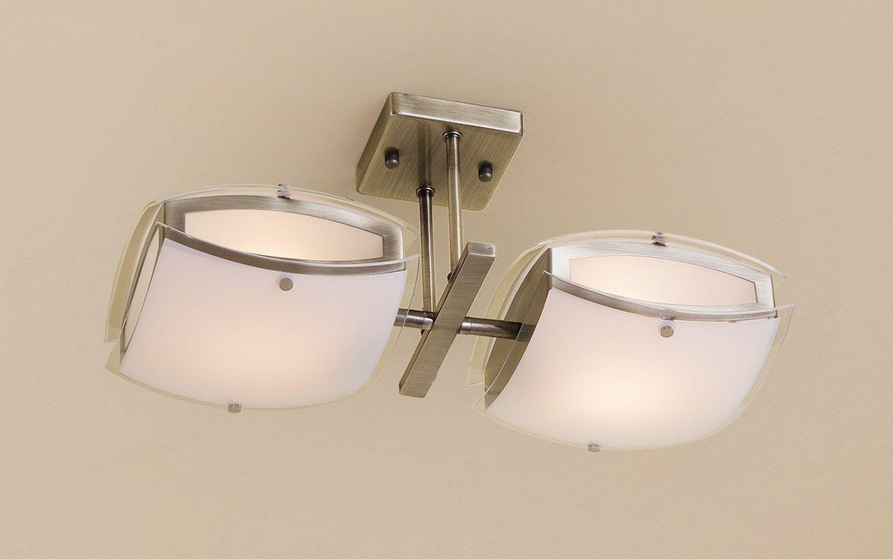 Люстра CitiluxЛюстры<br>Назначение светильника: для комнаты,<br>Стиль светильника: хай-тек,<br>Тип: потолочная,<br>Материал плафона: стекло,<br>Материал арматуры: металл,<br>Длина (мм): 450,<br>Высота: 220,<br>Количество ламп: 2,<br>Тип лампы: накаливания,<br>Мощность: 75,<br>Патрон: Е27,<br>Цвет арматуры: бронза,<br>Коллекция: Берген<br>