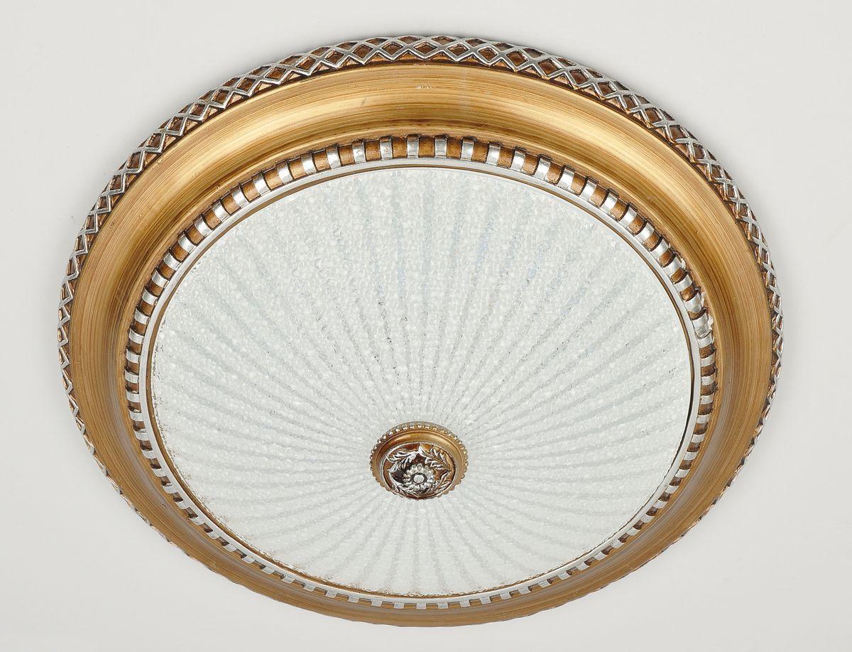 Светильник настенно-потолочный CitiluxСветильники настенно-потолочные<br>Мощность: 1, Количество ламп: 18, Назначение светильника: для комнаты, Стиль светильника: классика, Материал светильника: металл, стекло, Тип лампы: светодиодная, Высота: 100, Диаметр: 380, Патрон: LED, Цвет арматуры: медь, Коллекция: Тренди-2<br>