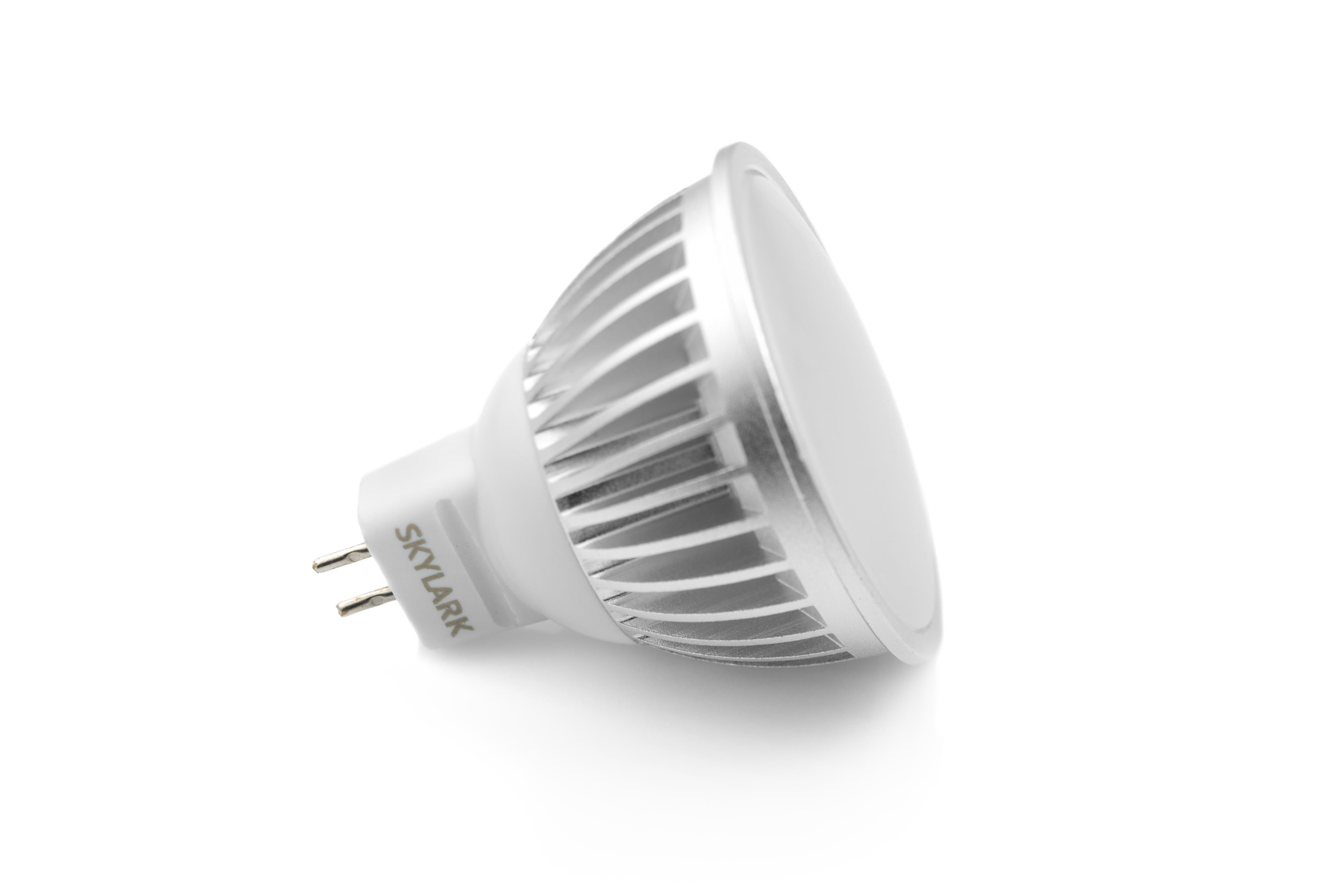 Лампа светодиодная SkylarkЛампы<br>Тип лампы: светодиодная, Форма лампы: дисковая, Типоразмер: MR16, Цвет колбы: белая, Тип цоколя: GU5.3, Мощность: 7, Цветовая температура: 3500, Цвет свечения: холодный<br>
