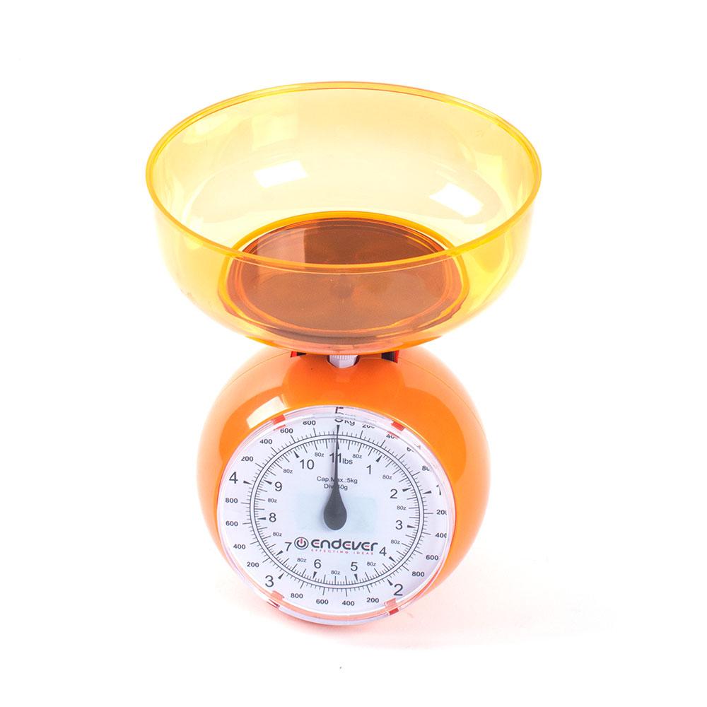 Весы кухонные EndeverВесы кухонные<br>Максимальная нагрузка: 5, Тип: механические, Конструкция весов: чаша, Материал корпуса: пластик, Материал платформы: пластик<br>