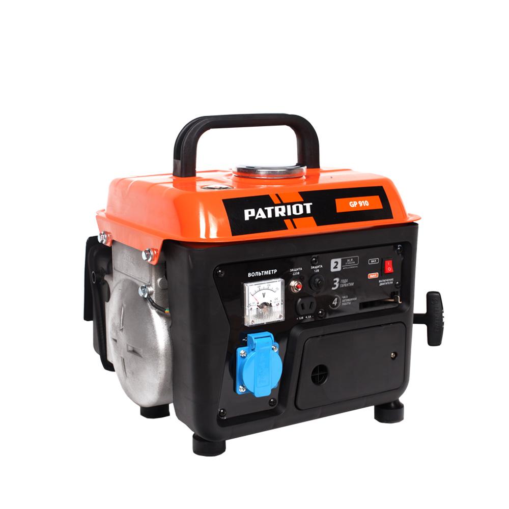 Бензиновый генератор PatriotГенераторы (электростанции)<br>Полная мощность: 0.8, Мощность активная: 0.65, Производитель двигателя: PATRIOT, Рабочий объем: 63, Напряжение: 220, Выходной ток: 16, Бак: 4.2, Вид топлива: бензин, Тип стартера: ручной<br>