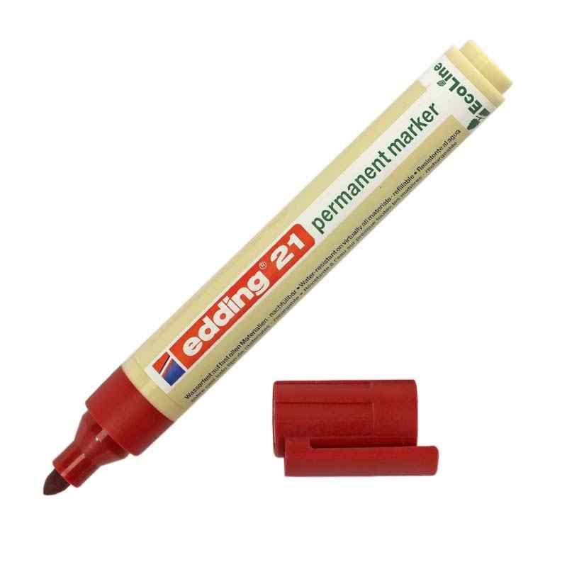 Маркер EddingРазметочный инструмент<br>Тип: маркеры, Цвет: красный<br>