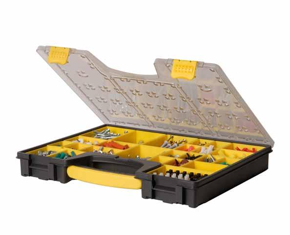Органайзер StanleyЯщики и кейсы<br>Назначение: для ручного инструмента, Форм-фактор: органайзер, Длина (мм): 492, Ширина: 431, Высота: 110, Материал: пластик<br>