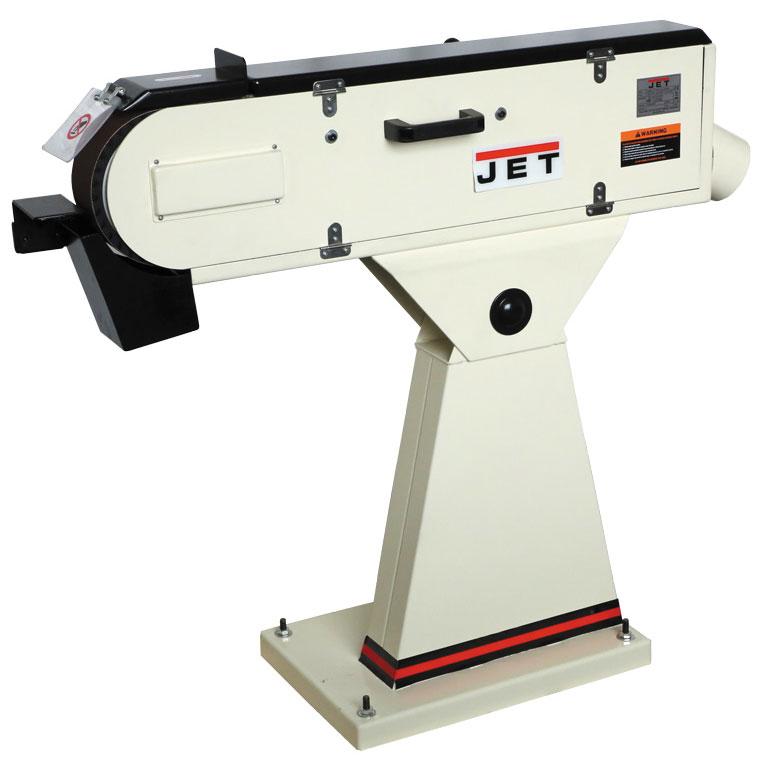 Станок шлифовальный JetСтанки шлифовальные<br>Тип станка: ленточный, Назначение: сталь и цвет.мет., Мощность: 3000, Скорость ленты: 1980, Размер ленты: 75х2000, Шлифовальная лента: есть, Напряжение: 400<br>