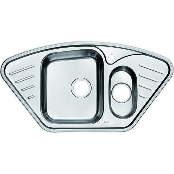 Мойка кухонная IddisМойки кухонные<br>Тип установки кухонной мойки: врезной, Материал изготовления кухонной мойки: нержавеющая сталь, Отверстие под смеситель: да, Форма кухонной мойки: прямоугольная, Количество чаш кухонной мойки: две чаши, Длина (мм): 965, Ширина: 505, Глубина: 180, Цвет: хром<br>