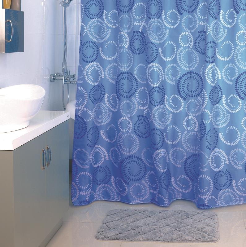 Штора для ванной комнаты MilardoАксессуары для ванной комнаты<br>Назначение аксессуара: штора (занавеска) для ванной, Материал: полиэстер, Высота: 1800, Ширина: 2000<br>