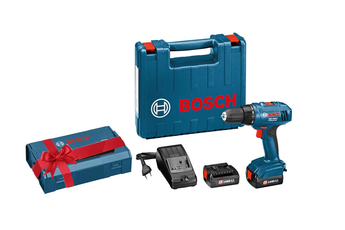 Дрель аккумуляторная Bosch Gsr 1440-li (...9a8 407) + ящик l-boxx mini