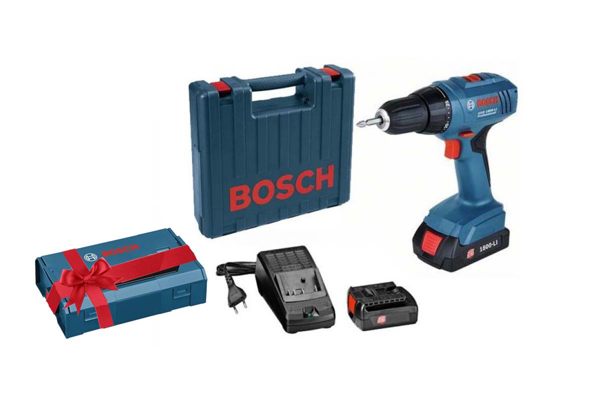 Gsr 1800-li (...9a8 307) + ящик l-boxx mini, Дрель аккумуляторная