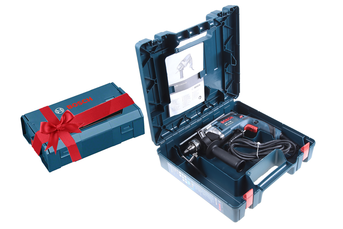 Gsb 16 re (600) + ящик l-boxx mini, Дрель ударная