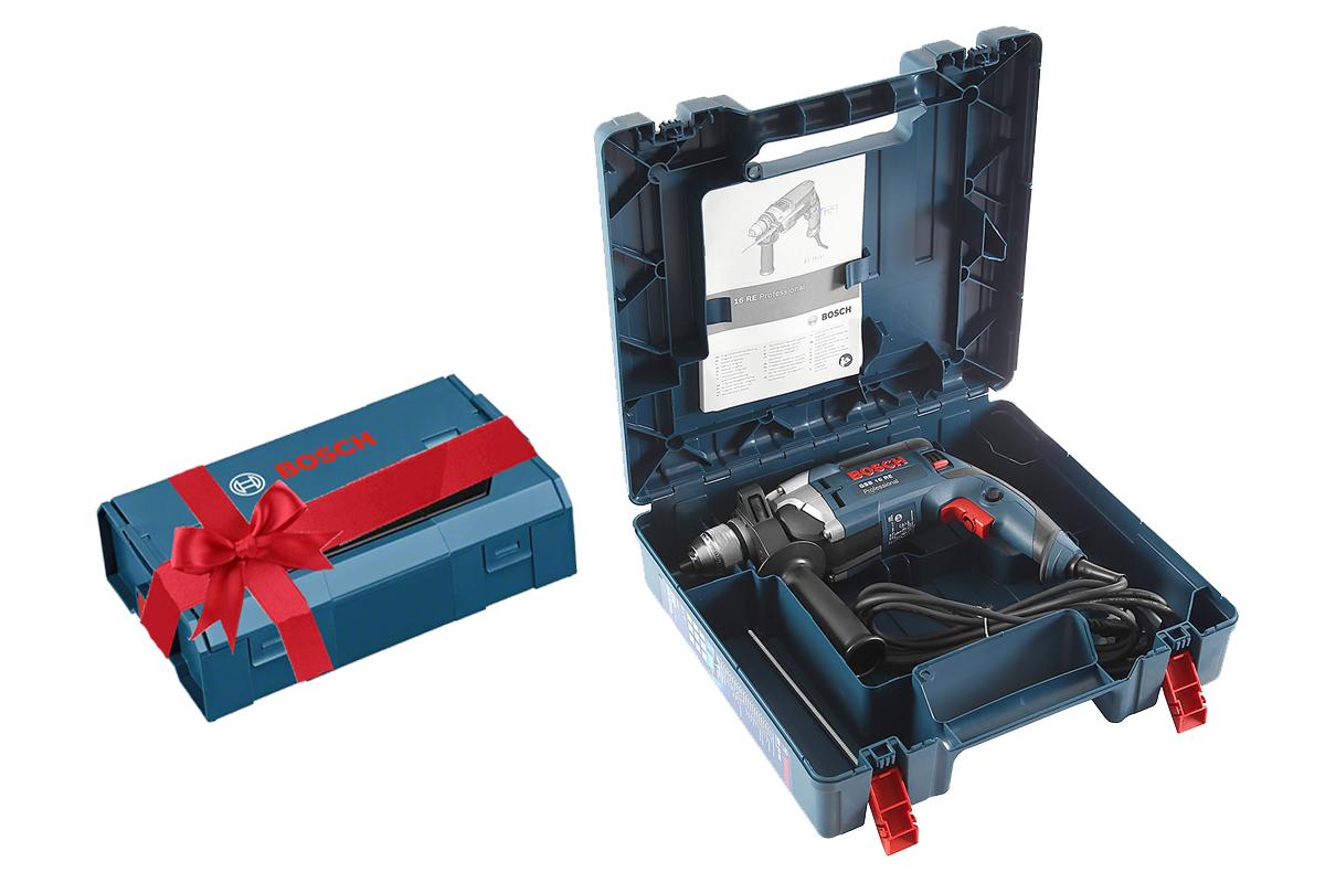 Gsb 16 re (500) + ящик l-boxx mini, Дрель ударная