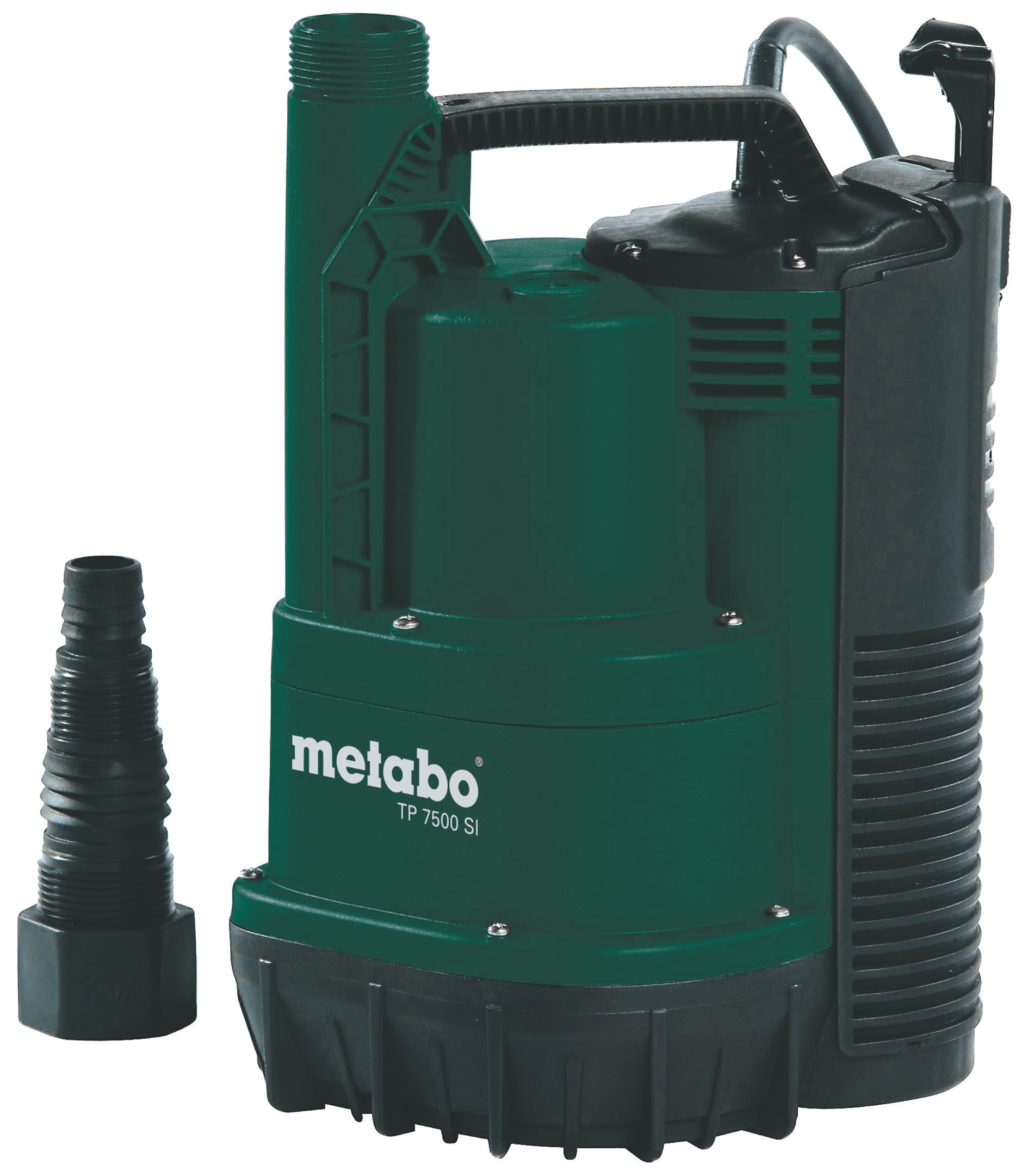 Насос MetaboНасосы<br>Тип насоса: погружной,<br>Конструкция насоса: дренажный,<br>Центробежный: есть,<br>Назначение по воде: чистая вода,<br>Макс. производительность по воде: 7500,<br>Макс. глубина: 7,<br>Макс. высота: 6.5,<br>Мощность: 300,<br>Поплавок: внешний,<br>Макс. давление: 0.65,<br>Эжектор: нет,<br>Диаметр всасывающего шланга: 1 1/4  ,<br>Диаметр на выходе (в дюймах): 1.25,<br>Материал корпуса: пластик,<br>Длина кабеля: 10,<br>Вес нетто: 4.2,<br>Страна происхождения: Германия<br>
