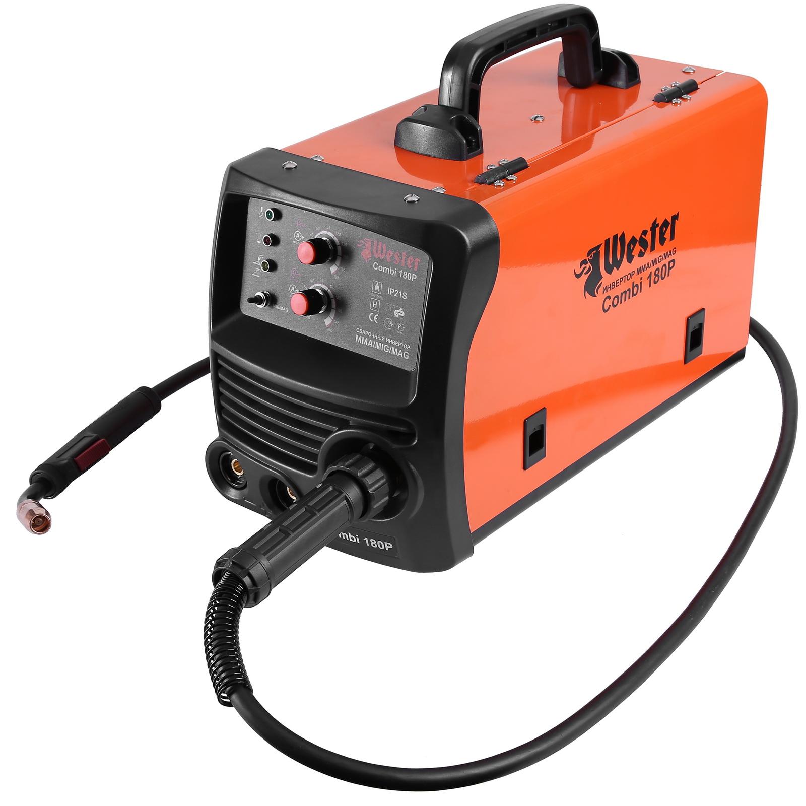 Сварочный инвертор WesterСварочное оборудование<br>Макс. сварочный ток: 180,<br>Мощность: 3400,<br>Мощность полная: 3400,<br>Напряжение: 220,<br>Мин. входное напряжение: 180,<br>Выходной ток: MMA 30-180 / MIG 30-160,<br>Напряжение холостого хода: 72,<br>Потребляемый ток: 28,<br>Мин. диаметр электрода: 1.6,<br>Макс. диаметр электрода: 4,<br>Мин. диаметр проволоки: 0.6,<br>Макс. диаметр проволоки: 1.2,<br>Тип сварочного аппарата: инверторный,<br>Тип сварки: полуавт./дуговая (MIG/MAG/MMA),<br>Инверторная технология: есть,<br>Поставляется в: коробке,<br>Вес нетто: 16.3,<br>Страна происхождения: КНР,<br>Гарантия на модель: 36<br>