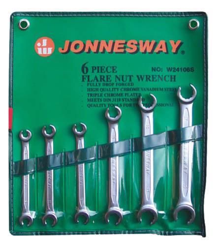 Набор разрезных ключей, 6 шт. Jonnesway - JonneswayКлючи гаечные<br>Размер ключа минимальный: 6,<br>Размер ключа максимальный: 19,<br>Набор: есть,<br>Ключей в наборе: 6,<br>Страна происхождения: Тайвань<br>