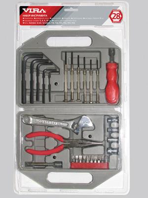 Набор инструментов в чемодане, 28 предметов Vira