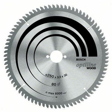 Круг пильный твердосплавный BOSCH Optiline Wood 254 X 80 X 30 GCM 10