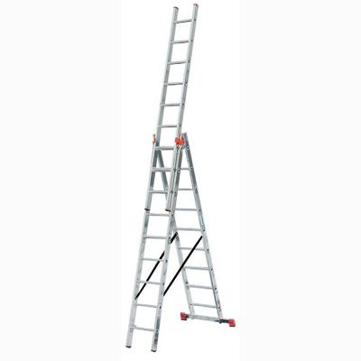 Лестница алюминиевая приставная 3 х секционная Krause