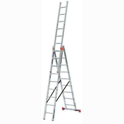 Лестница алюминиевая складная 3 х секционная Krause