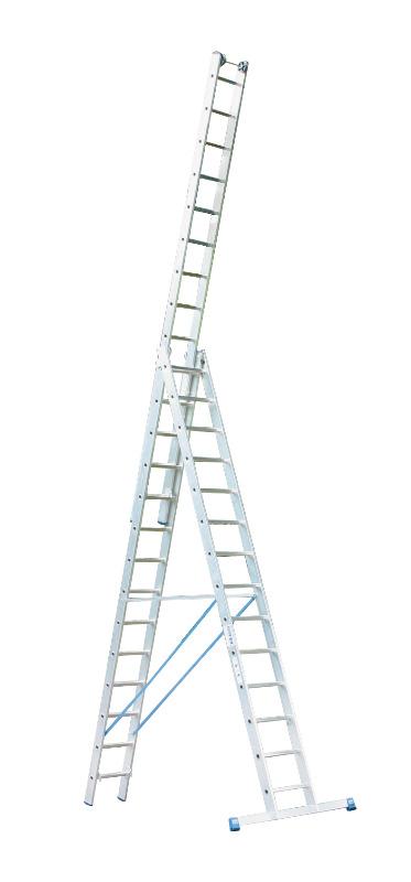 Лестница алюминиевая складная 3х14 Krause