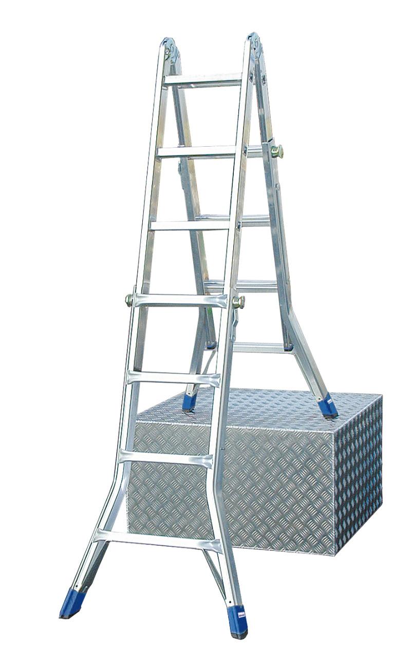 Лестница алюминиевая телескопическая Krause