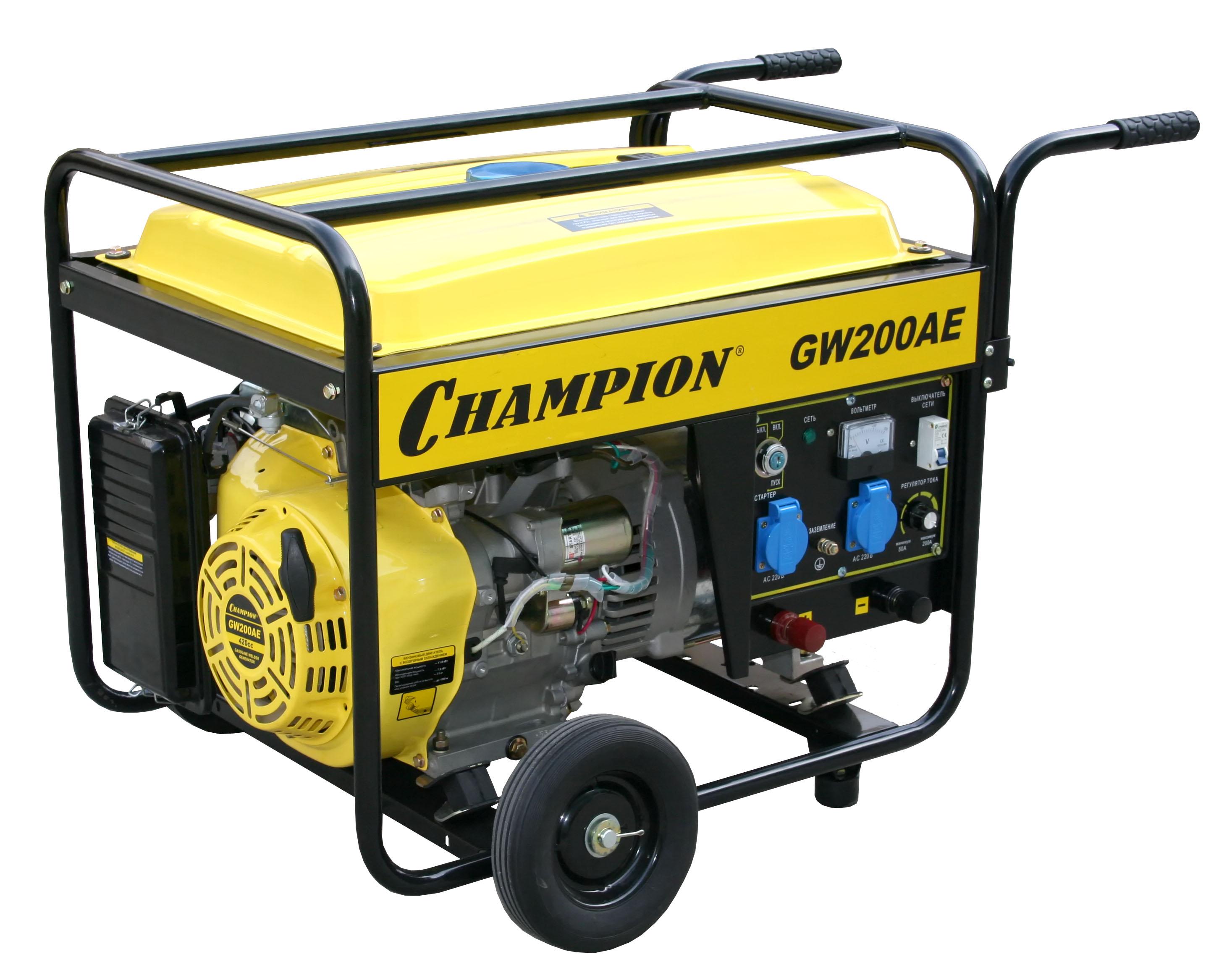 Бензиновый сварочный генератор Champion