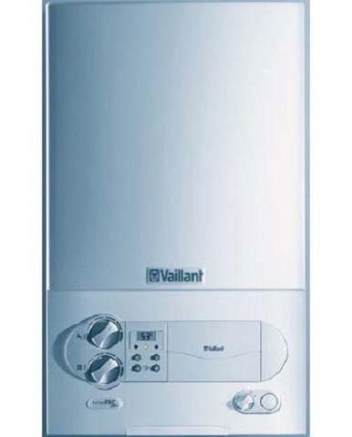Двухконтурный настенный газовый котел VaillantГазовые котлы<br>Мощность: 26700, Производительность водонагревателя: 11.4, Тип: котел, Тип установки: настенный, Количество контуров: 2, Тип теплообменника: пластинчатый, Температура: 85, Площадь обогрева: 267, Бак: 6, Дымоход: есть, Коаксиальный дымоход: есть, Автоматический поджиг: есть, Родина бренда: Германия, Размеры: 800х440х338<br>