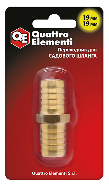 Соединитель для шлангов (переходник) Quattro elementiСоединительные элементы и фильтры<br>Тип элемента: коннектор,<br>Диаметр на выходе (в дюймах): 3/4,<br>Материал: латунь<br>