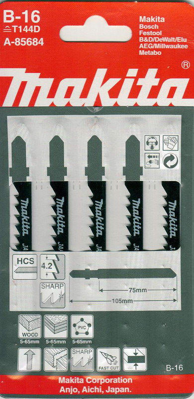 Фото 2/2 B-16 (t144d), Пилки для лобзика
