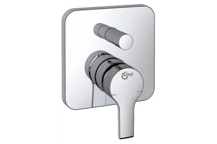 Смеситель скрытого монтажа Ideal standardСмесители<br>Назначение смесителя: для ванны и душа,<br>Тип управления смесителя: однорычажный,<br>Цвет покрытия: хром,<br>Стиль смесителя: модерн,<br>Монтаж смесителя: вертикальный,<br>Тип установки смесителя: скрытая установка,<br>Материал смесителя: латунь,<br>Излив: традиционный,<br>Родина бренда: Германия,<br>Коллекция: active<br>