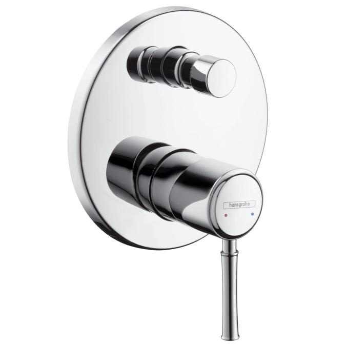 Смеситель скрытого монтажа HansgroheСмесители<br>Назначение смесителя: для ванны и душа,<br>Тип управления смесителя: однорычажный,<br>Цвет покрытия: хром,<br>Стиль смесителя: модерн,<br>Монтаж смесителя: вертикальный,<br>Тип установки смесителя: скрытая установка,<br>Материал смесителя: латунь,<br>Излив: традиционный,<br>Родина бренда: Германия<br>
