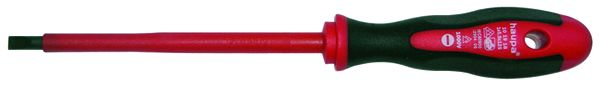 Отвертка шлицевая HaupaОтвертки<br>Тип наконечника: SL (шлиц),<br>Тип отвертки: стандартная,<br>Длина (мм): 185,<br>Страна происхождения: Германия<br>