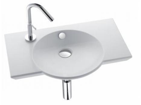 Раковина для ванной Jacob delafonРаковины (умывальники)<br>Тип: раковина, Назначение умывальника(раковины): для ванной, Ширина: 600, Глубина: 410, Форма раковины: ассиметричная, Цвет: белый, Отверстие под смеситель: да, Материал: керамика, Тип установки раковины: накладной, Коллекция: formilia spherik<br>