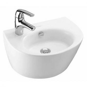 Раковина для ванной Jacob delafonРаковины (умывальники)<br>Тип: раковина,<br>Назначение умывальника(раковины): для ванной,<br>Ширина: 460,<br>Глубина: 345,<br>Форма раковины: полукруглая,<br>Цвет: белый,<br>Отверстие под смеситель: да,<br>Материал: керамика,<br>Тип установки раковины: подвесной,<br>Перелив: есть<br>