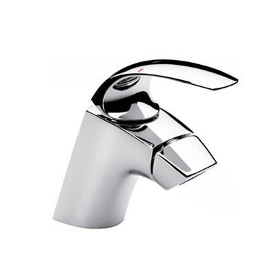 Смеситель однорычажный RocaСмесители<br>Назначение смесителя: для биде,<br>Донный клапан: есть,<br>Тип управления смесителя: однорычажный,<br>Цвет покрытия: хром,<br>Стиль смесителя: модерн,<br>Монтаж смесителя: горизонтальный,<br>Тип установки смесителя: на мойку (раковину),<br>Материал смесителя: латунь,<br>Излив: традиционный,<br>Родина бренда: Испания<br>