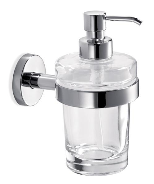 Диспенсер для жидкого мыла IndaДиспенсеры<br>Назначение: для жидкого мыла, Цвет покрытия: хром глянцевый, Материал: металл, Высота: 160, Ширина: 80, Глубина: 130, Способ крепления: на стол<br>