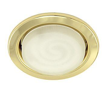 Светильник встраиваемый АКЦЕНТСветильники встраиваемые<br>Стиль светильника: хай-тек,<br>Диаметр: 90,<br>Форма светильника: круг,<br>Материал светильника: металл,<br>Количество ламп: 1,<br>Тип лампы: энергосберегающая,<br>Патрон: GX53,<br>Цвет арматуры: золото<br>