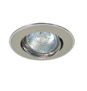 Светильник встраиваемый АКЦЕНТСветильники встраиваемые<br>Стиль светильника: классика, Диаметр: 65, Форма светильника: круг, Материал светильника: металл, Количество ламп: 1, Тип лампы: галогенная, Мощность: 50, Патрон: GU5.3, Цвет арматуры: хром<br>