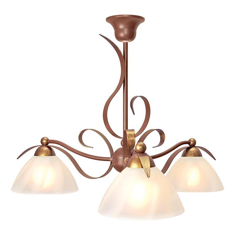 Люстра СЕВЕРНЫЙ СВЕТЛюстры<br>Назначение светильника: для гостиной,<br>Стиль светильника: классика,<br>Тип: подвесная,<br>Материал светильника: металл, стекло,<br>Материал плафона: стекло,<br>Материал арматуры: металл,<br>Диаметр: 450,<br>Высота: 600,<br>Количество ламп: 3,<br>Тип лампы: накаливания,<br>Мощность: 60,<br>Патрон: Е27,<br>Цвет арматуры: медь<br>