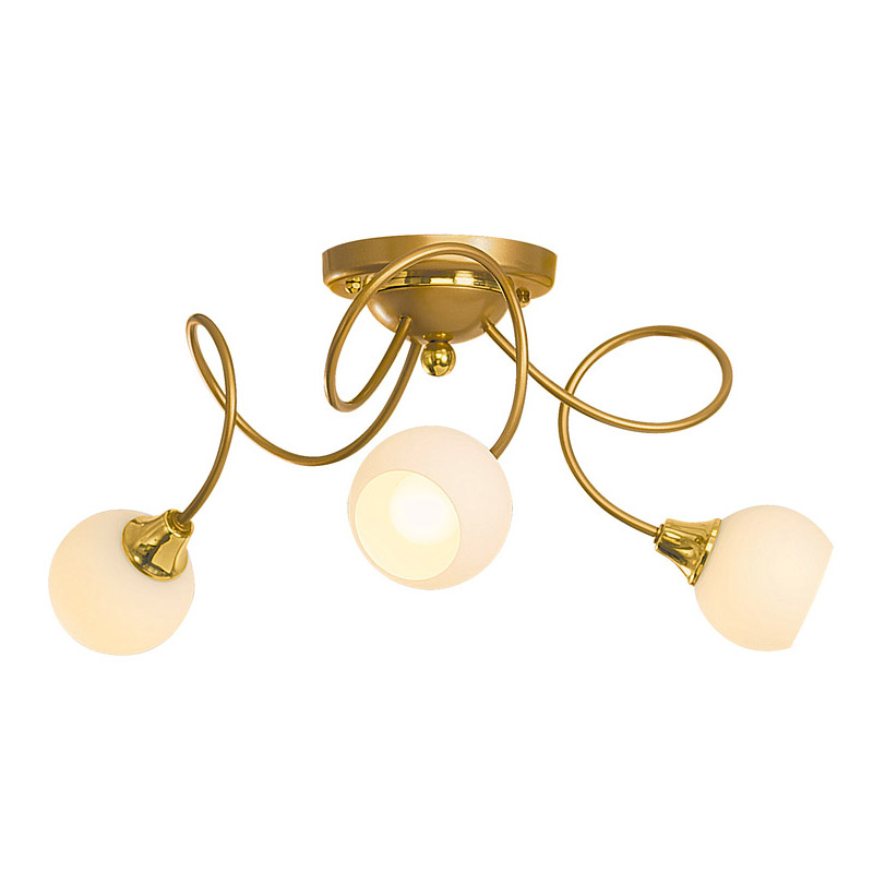 Люстра СЕВЕРНЫЙ СВЕТЛюстры<br>Назначение светильника: для гостиной,<br>Стиль светильника: модерн,<br>Тип: потолочная,<br>Материал светильника: металл, стекло,<br>Материал плафона: стекло,<br>Материал арматуры: металл,<br>Диаметр: 410,<br>Высота: 200,<br>Количество ламп: 3,<br>Тип лампы: накаливания,<br>Мощность: 60,<br>Патрон: Е14,<br>Цвет арматуры: золото<br>