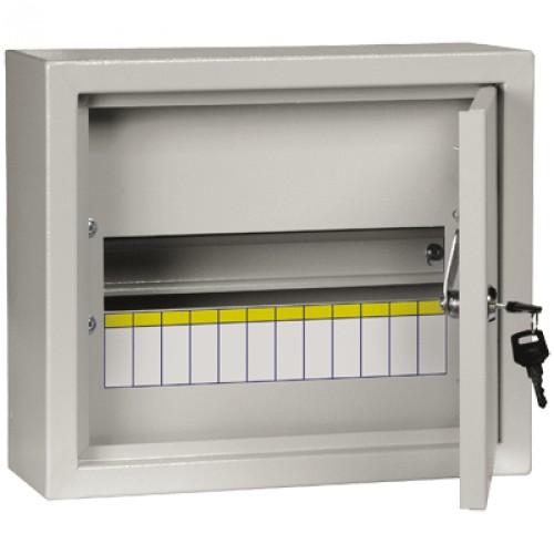 Щит электрический навесной IekЩиты электрические, боксы<br>Тип: щит,<br>Тип установки: навесной,<br>Материал: металл,<br>Степень защиты от пыли и влаги: IP 31,<br>Использование: в помещении,<br>Высота: 265,<br>Ширина: 301,<br>Глубина: 120,<br>Толщина: 1,<br>Замок: есть,<br>Окно: нет,<br>DIN рейка: одна,<br>Количество модулей: 12<br>