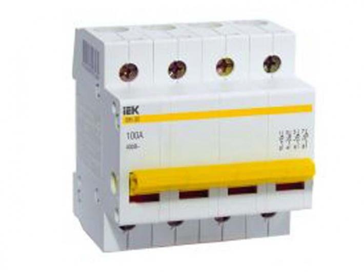 Рубильник Iek - IekАвтоматические выключатели<br>Номинальный ток: 40,<br>Тип выключателя: рубильник,<br>Количество полюсов: 4,<br>Номинальная отключающая способность: 6000,<br>Степень защиты от пыли и влаги: IP 20<br>