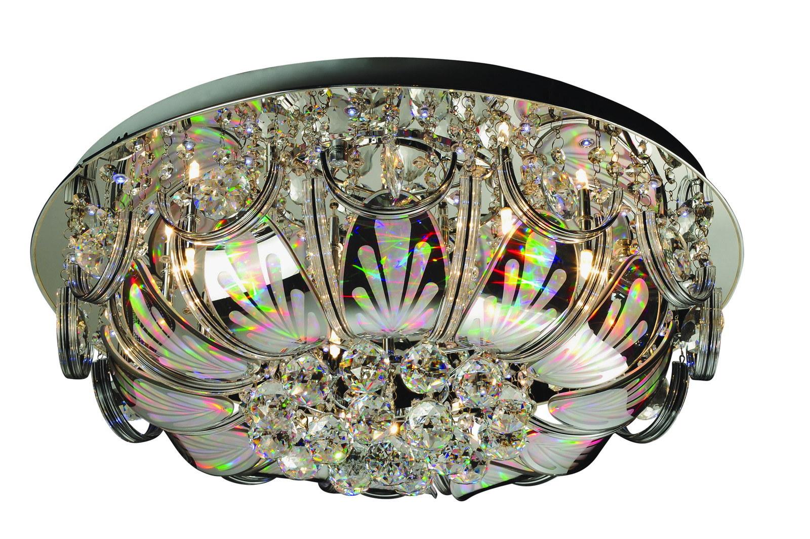 Люстра МАКСИСВЕТЛюстры<br>Назначение светильника: для гостиной,<br>Стиль светильника: классика,<br>Тип: потолочная,<br>Материал светильника: металл, стекло, хрусталь,<br>Материал арматуры: металл,<br>Диаметр: 600,<br>Высота: 240,<br>Количество ламп: 16,<br>Тип лампы: галогенные и светодиодные,<br>Мощность: 20,<br>Патрон: G4,<br>Пульт ДУ: есть,<br>Цвет арматуры: хром<br>