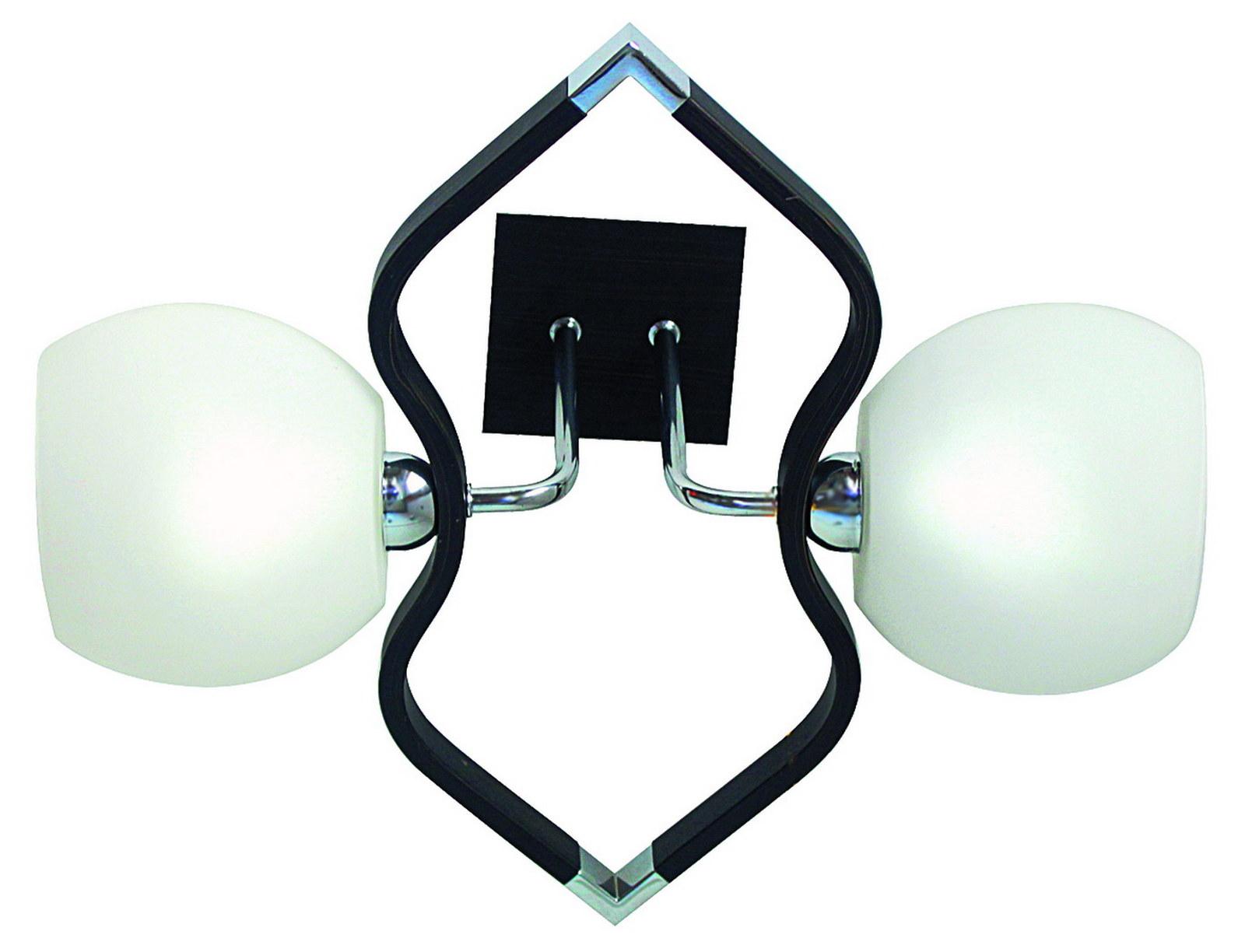 Люстра МАКСИСВЕТЛюстры<br>Назначение светильника: для гостиной,<br>Стиль светильника: модерн,<br>Тип: потолочная,<br>Материал светильника: металл, дерево, стекло,<br>Материал плафона: стекло,<br>Материал арматуры: металл,<br>Длина (мм): 390,<br>Ширина: 370,<br>Высота: 190,<br>Количество ламп: 2,<br>Тип лампы: накаливания,<br>Мощность: 40,<br>Патрон: Е14,<br>Пульт ДУ: нет,<br>Цвет арматуры: хром<br>